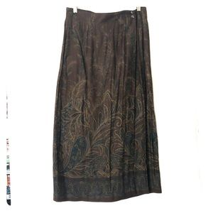 Vintage chic Ruff Hewn Petite floral wrap skirt